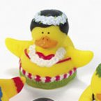 Hula Dancing Rubber Duck Girl in Red