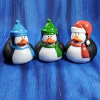 Trio of Penguin Rubber Ducks