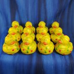 12 Christmas Lights Tangled Rubber Ducks