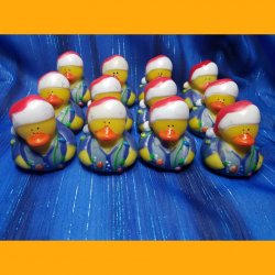 12 Christmas Lights Dad Rubber Ducks