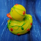 Christmas Lights Tangled Rubber Duck
