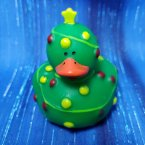 Christmas Lights Tree Rubber Duck