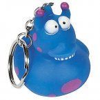 Blue Alien Rubber Duck Key Chain