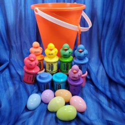 Crayon Gift Bucket - Orange