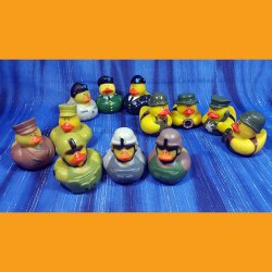 Fun Pack! 12 US Army Rubber Duck Assortment