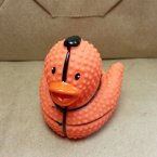 "Limited Textured 2"" Basketball Rubber Duck"