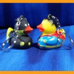 Batduck vs Superduck Rubber Duck Key Chain