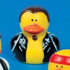 Jesse Biker Rubber Duck with Ponytail