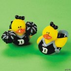 Black & Silver Cheerleader Rubber Ducks
