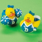 Blue & White Cheerleader Rubber Ducks