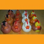 Fun Pack! 12 Assorted Farm Animals Rubber Duck - Chickens Horses