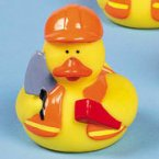 Construction Brick Layer Rubber Duck