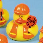 Construction Flagger Crossing Guard Rubber Duck