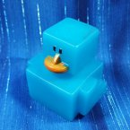 Blue Digital Mini Rubber Duck