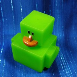 Green Digital Mini Rubber Duck