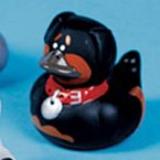 Rottweiler Dog Rubber Duck - Spike