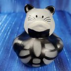 Glow-in-Dark Skeleton Black Cat Rubber Duck