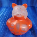 Glow-in-Dark Skeleton Orange Cat Rubber Duck