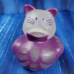 Glow-in-Dark Skeleton Purple Cat Rubber Duck