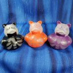Glow-in-Dark Skeleton Cat Rubber Ducks