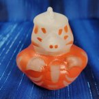 Glow-in-Dark Skeleton Dinosaur Rubber Duck - Orange