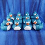 12 Crazy Blue Rubber Ducks