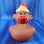 Sock Monkey Rubber Duck Classic Brown