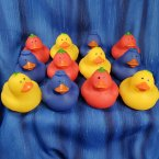 Fun Pack! 12 Large Fruit Salad Rubber Ducks