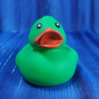 Green Floating Rubber Duck