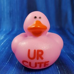 Text Rubber Duck UR CUTE