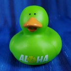 Hawaiian Hibiscus Rubber Duck Green Aloha!
