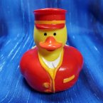 Red Train Conductor Rubber Duck
