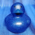 Blue Glitter Rubber Duck