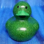 Green Glitter Rubber Duck