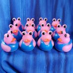 12 Pink Alien Rubber Ducks