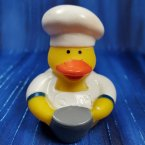 Chef Rubber Duck with Stock Pot in Blue