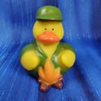 Camping Rubber Duck - Campfire Merit Badge