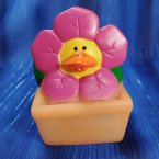 Pink Spring Flower Rubber Duck