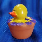 Purple Spring Flower Rubber Duck