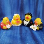 Wedding Bride, Groom, Attendants, Ring Bearer, Flower Girl Ducks