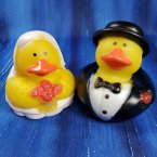 Wedding Bride and Groom Rubber Ducks
