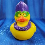Mardi Gras Masquerade Rubber Duck with Green Mask