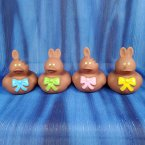 Milk Chocolate * Easter Bunny Rubber Ducks
