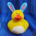 Easter Bunny Blue Rubber Duck