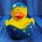 Easter Chick Blue Rubber Duck