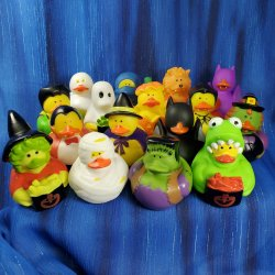 Fun Pack! 16 Trick-or-Treat Rubber Ducks