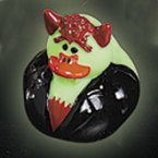 Glow-in-the-Dark Rubber Duck in Black Monster Costume