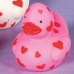 Mini Heart Pink Rubber Duck