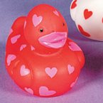Mini Heart Red Rubber Duck