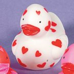 Mini Heart White Rubber Duck